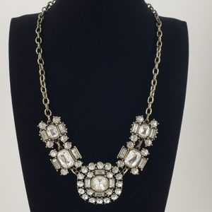 J. Crew Jewelry - J. Crew Statement Necklace Brilliant Rhinestones